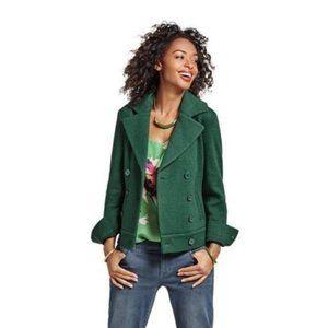 Cabi Green Love Carol Knit Peacoat Jacket XXS